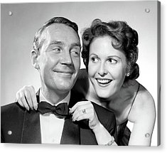 1950s 1960s Smiling Couple Dressed Acrylic Print