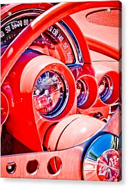 1950s Corvette Acrylic Print by Phil 'motography' Clark