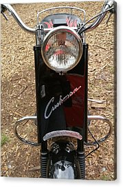 Acrylic Print featuring the photograph 1950's Cushman by Fortunate Findings Shirley Dickerson