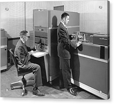 1950s Data Machines Acrylic Print by Underwood Archives