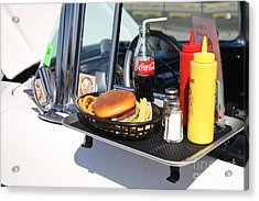 1950's Drive In Movie Snack Tray Acrylic Print