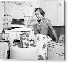1950s Frustrated Housewife With Jammed Acrylic Print