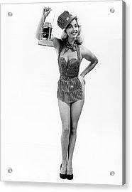 1950s Full Length Portrait Of Blond Acrylic Print