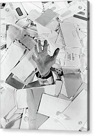 1950s Male Hand Sticking Out Of Pile Acrylic Print