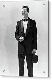 1950s Portrait Smiling Man Wearing Acrylic Print
