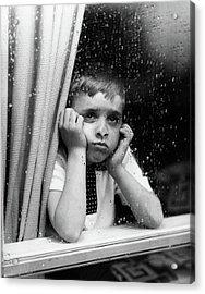1950s Sad Boy Looking Acrylic Print
