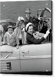 1950s Smiling Family Portrait Mother Acrylic Print