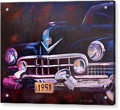 1951 Cadillac Acrylic Print by Ron Patterson