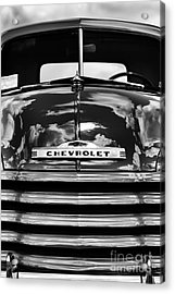 1951 Chevrolet Pickup Monochrome Acrylic Print by Tim Gainey