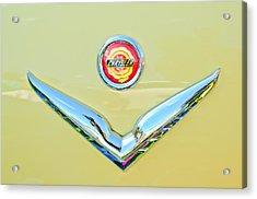 1951 Chrysler New Yorker Convertible Emblem Acrylic Print by Jill Reger