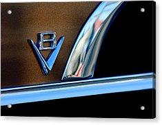 1951 Ford Crestliner V8 Emblem Acrylic Print by Jill Reger