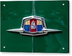 1951 Plymouth Suburban Emblem Acrylic Print by Jill Reger