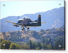 Acrylic Print featuring the photograph 1951 T-28a Trojan Climbing-out N51705 by John King