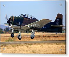1951 T-28a Trojan Take-off N51705 Acrylic Print
