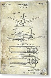 1951 Toy Jet Patent Drawing Acrylic Print by Jon Neidert