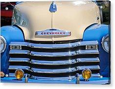 1952 Chevrolet Pickup Truck Grille Emblem Acrylic Print by Jill Reger
