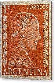 1952 Eva Peron Argentina Stamp Acrylic Print