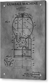 1952 Gumball Machine Patent Acrylic Print by Dan Sproul