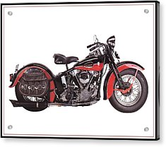 1952 Harley Davidson Acrylic Print by Maciek Froncisz