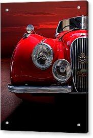 1952 Jaguar Xk120 Sport Car Red Acrylic Print by Radoslav Nedelchev