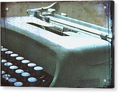 1952 Olivetti Typewriter Acrylic Print by Georgia Fowler