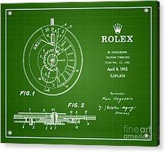 1952 Rolex Calendar Timepiece 2 Acrylic Print by Nishanth Gopinathan