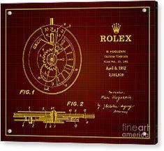 1952 Rolex Calendar Timepiece 3 Acrylic Print by Nishanth Gopinathan