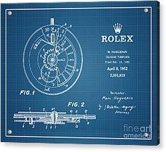 1952 Rolex Calendar Timepiece 4 Acrylic Print by Nishanth Gopinathan
