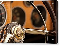 1952 Sterling Gladwin Maverick Sportster Steering Wheel Emblem -1848c Acrylic Print