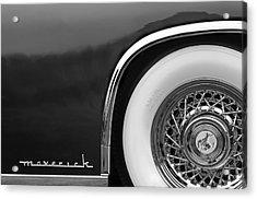 1952 Sterling Gladwin Maverick Sportster Wheel Emblem - 0321bw Acrylic Print