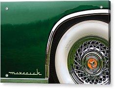 1952 Sterling Gladwin Maverick Sportster Wheel Emblem -0321c Acrylic Print