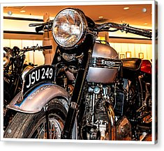 1952 Triumph Tiger 100 Acrylic Print by Steve Benefiel
