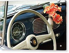 1952 Volkswagen Vw Bug Steering Wheel Acrylic Print