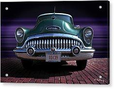 1953 Buick Acrylic Print by Andrea Kelley