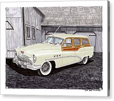 1953 Buick Estate Wagon Woody Acrylic Print by Jack Pumphrey