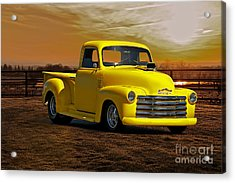1953 Chevrolet Pick Up 'custom' Truck Acrylic Print by Dave Koontz