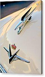 1953 Chrysler Imperial Custom Hood Ornament Acrylic Print by Jill Reger