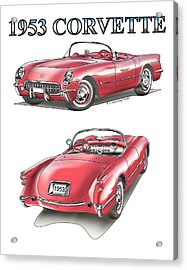 1953 Corvette Acrylic Print