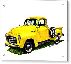 1953 G M C 5-window Pick-up Acrylic Print by Jack Pumphrey