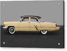1953 Lincoln Acrylic Print by Frank J Benz