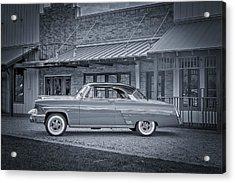 1953 Mercury Monterey Bw Auf Deutsch Acrylic Print by David Morefield