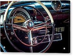 1953 Mercury Monterey Dashboard Acrylic Print by David Morefield