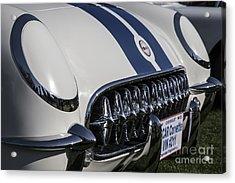 1953 Nascar Corvette Acrylic Print by Dennis Hedberg