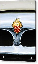 1953 Packard Clipper Deluxe Sedan Grille Emblem Acrylic Print by Jill Reger