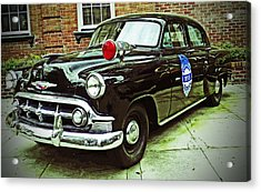 1953 Police Car Acrylic Print by Patricia Greer