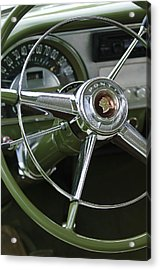 1953 Pontiac Steering Wheel Acrylic Print