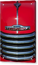 1953 Red Chevrolet 3100 Pickup Acrylic Print by Tim Gainey