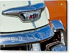 1954 Chevrolet Panel Truck Hood Emblem Acrylic Print by Jill Reger