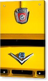 1954 Ford F-100 Custom Pickup Truck Emblems Acrylic Print by Jill Reger