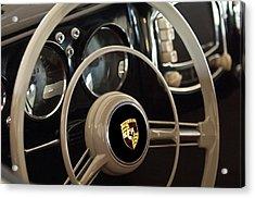 1954 Porsche 356 Bent-window Coupe Steering Wheel Emblem Acrylic Print by Jill Reger